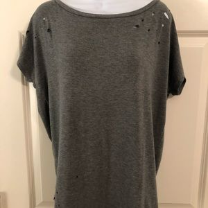 Express One Eleven Distressed shirt with holes